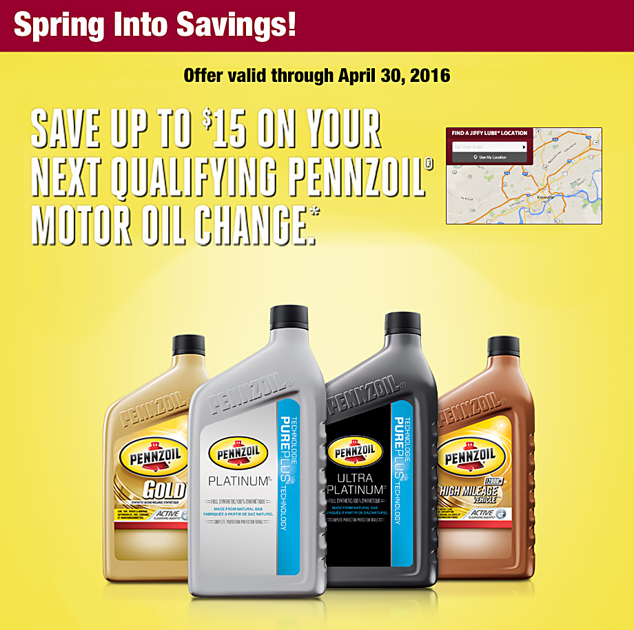 Jiffy Lube Knoxville Pennzoil Discount